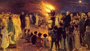 Peder Severin Kroyer Saint John s Bonfire on the Beach at the Skaw (nn02) oil painting